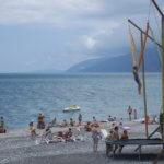 Абхазия Гагра море развлечения на пляже