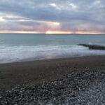 Абхазия Гагра пляж рядом с гостевым домом